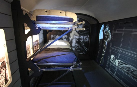 Inside the ambulance trains exhibition