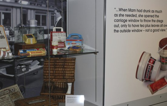 Food packaging on display