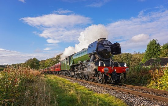 Flying Scotsman in steam at the East Lancashire Railway © Liam Barnes