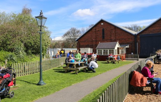 A view of South Yard on a sunny day