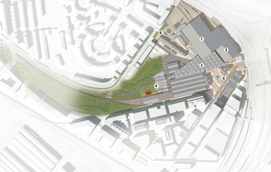 Map of proposed York Central developments - Image courtesy of Wilkinson Eyre