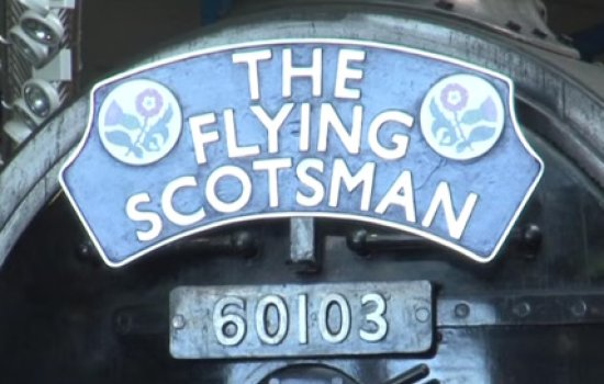 Nameplate of the Flying Scotsman
