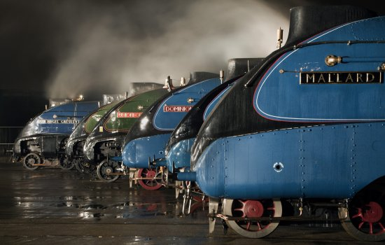 A-4 Class locomotives at the Great Gathering/ Great Goodbye at National Railway Museum, Shildon, 2014