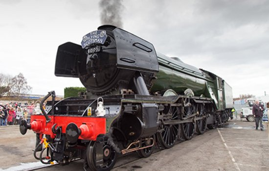 Flying scotsman in steam