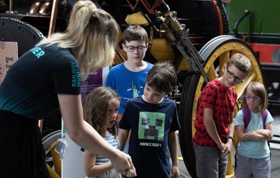 Children take part in an activity