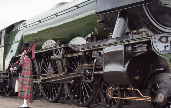 Flying Scotsman in North Yard at the National Railway Museum