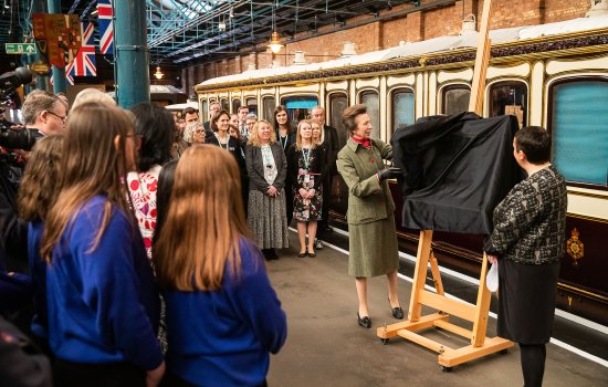 HRH Princess Royal in Station Hall