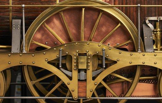 Details of a model locomotive