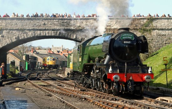 Flying Scotsman at Swanage