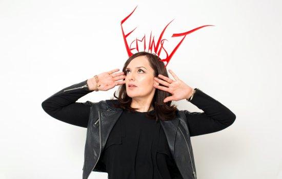 Deborah Frances-White, host of The Guilty Feminist, an award-winning podcast and live show