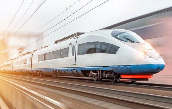 A modern train at high speed