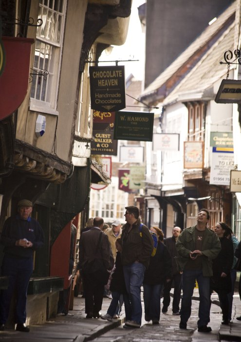 Visitors on York's historic Shambles