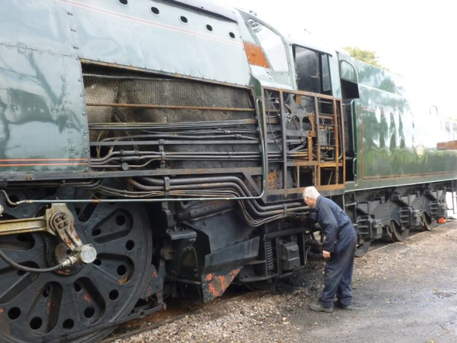 The framework for the boiler and cab casing was examined and painted before new or repaired platework was fixed to it
