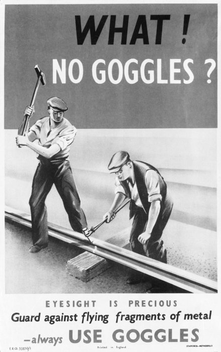 London, Midland & Scottish Railway poster for track workers, c.1940