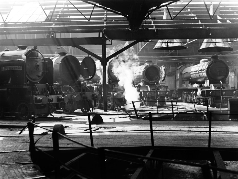 York engine shed, about 1950.