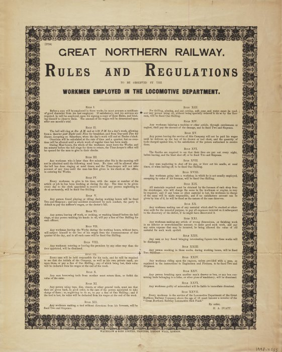 Rules and Regulations, Great Northern Railway, 1900