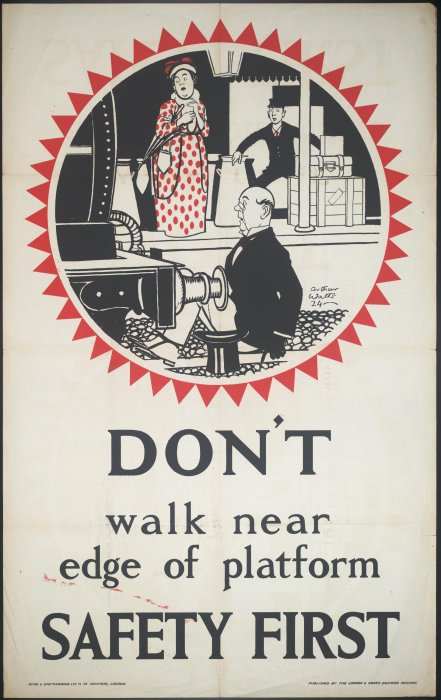 London & North Eastern Railway passenger safety poster, 1924