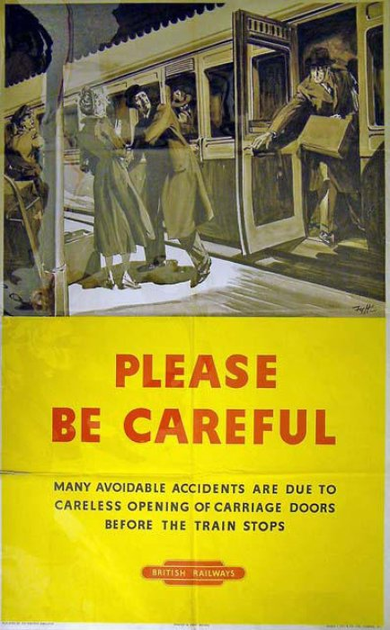 British Railways passenger safety poster, c.1950s