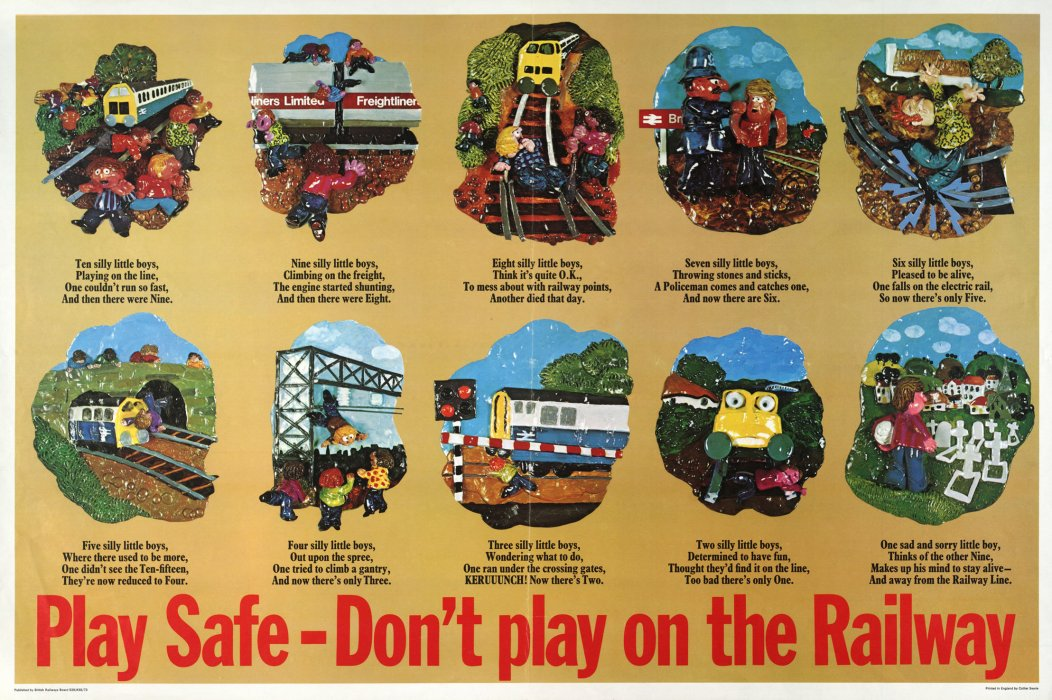 British Rail passenger safety poster, c.1970s