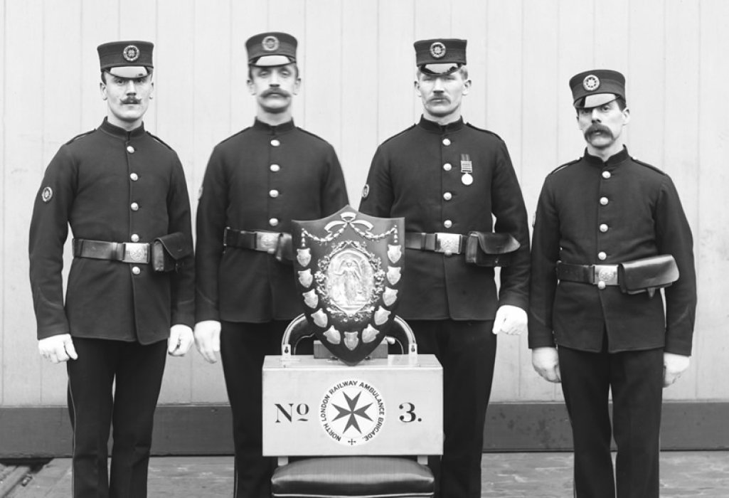 North London Railway ambulance team, c.1900