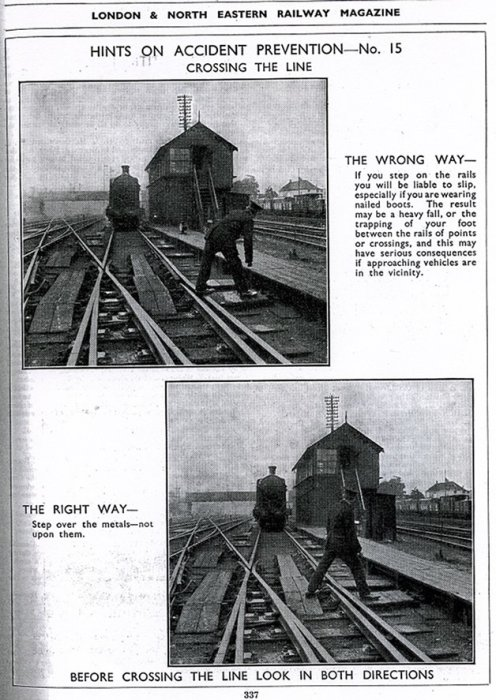 London & North Eastern Railway Magazine safety article, June 1934