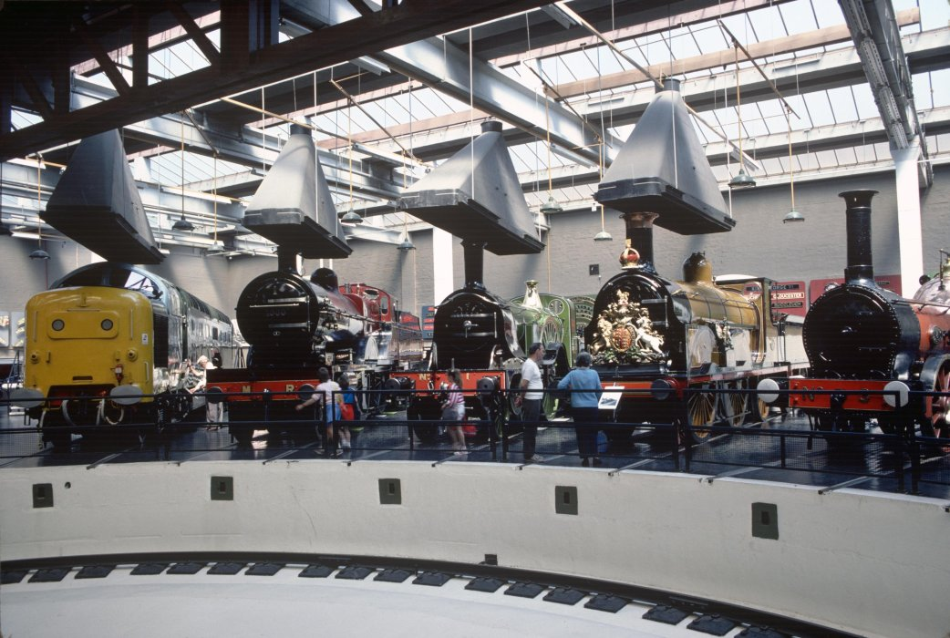 Turntable in the Great Hall at the National Railway Museum, 1973