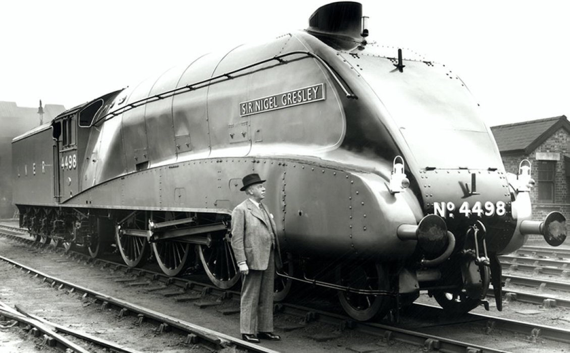 Sir Nigel Gresley with the A4 Pacific No 4498