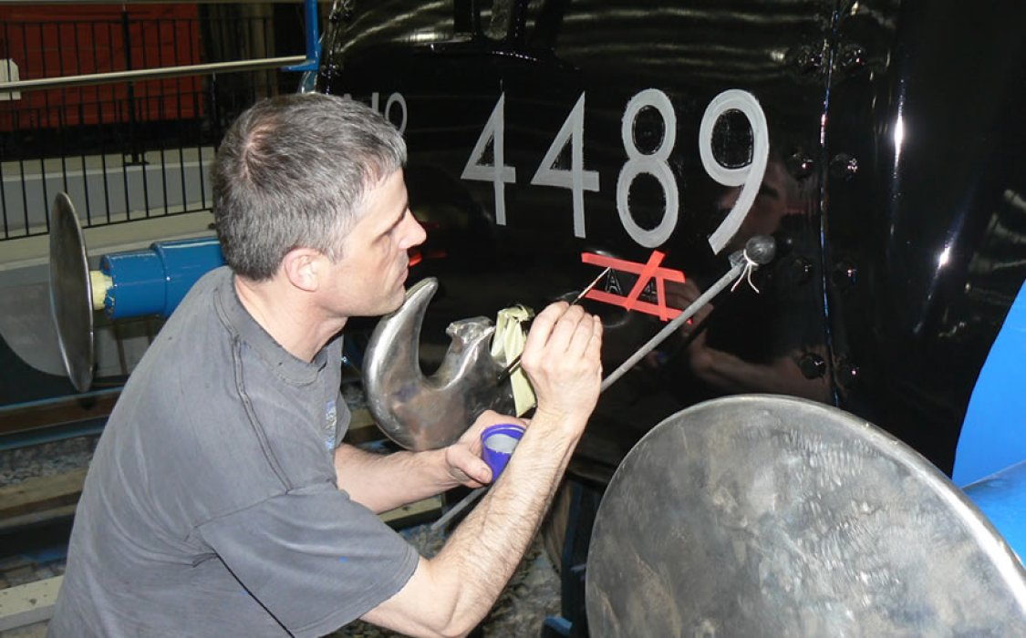 Dominion of Canada - restoration finishing touches require a steady hand