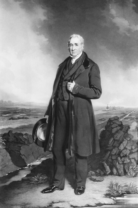 Portrait of George Stephenson, around 1830
