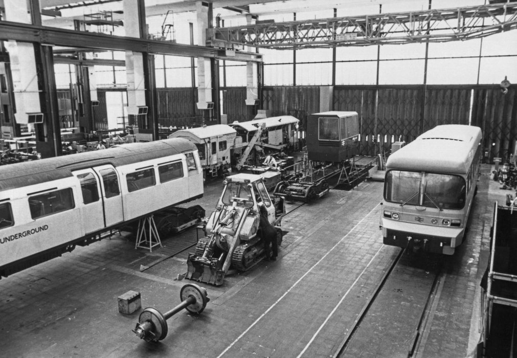Experimental vehicles in the workshop