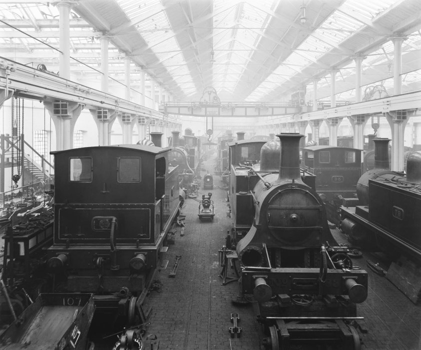 Locomotives in the workshop
