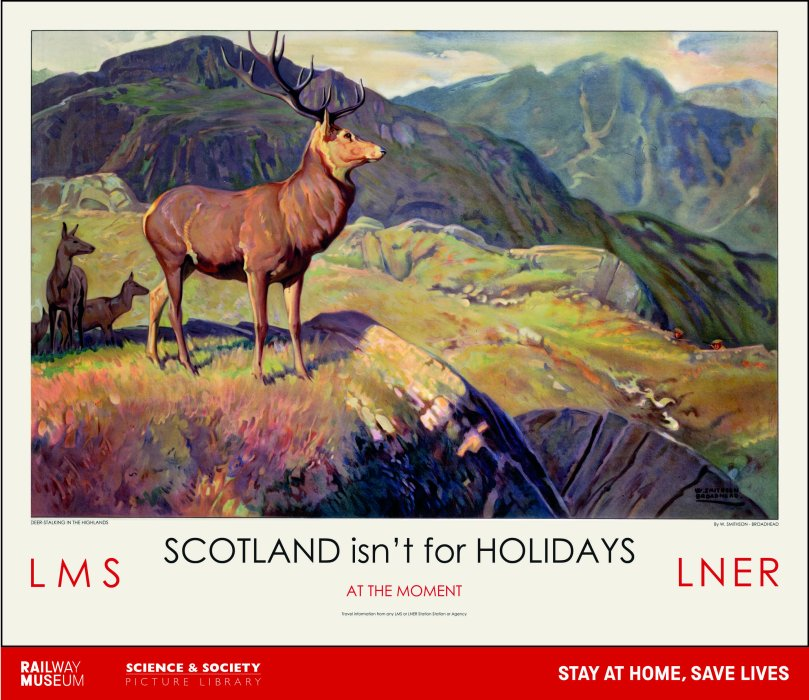 Scottish Highlands lockdown poster