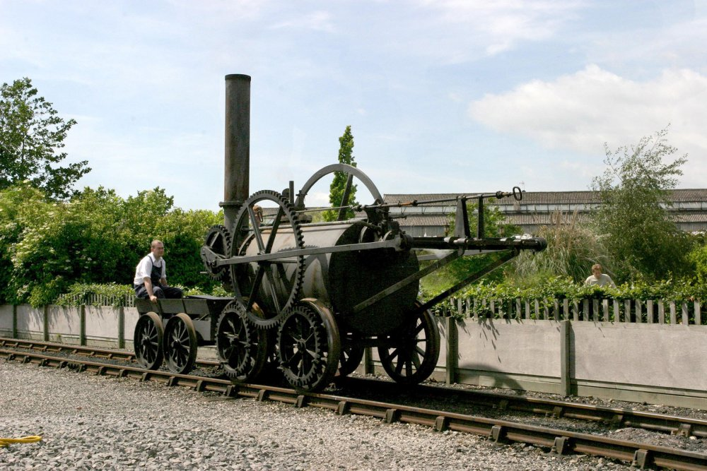 Trevithick's Pen y darren locomotive at Railfest 2004